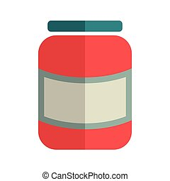 Glass Jar.vector illustration.