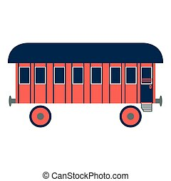 old railway carvector illustration