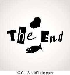 the end.vector illustration.