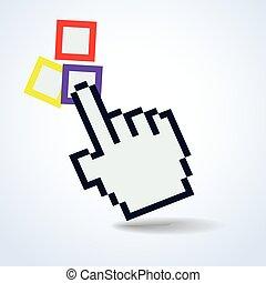 hand cursor.vector illustration.