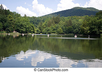 bear lake in transylvania - salt-water