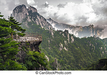 Yellow Mountain Huangshan Terrace - Atop in Yellow sacred...