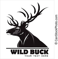 Wild Black Buck - symbolizing power, protection, dignity,...