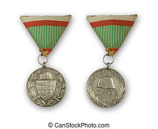 ancient medal - Hungarian medal of Knightly Order of Vitez -...