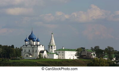 Beautiful view of the Suzdal Kremlin, Russia