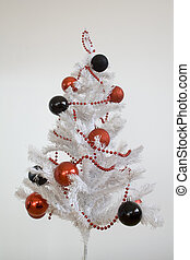 christmas tree - simple white christmas tree whith black and...