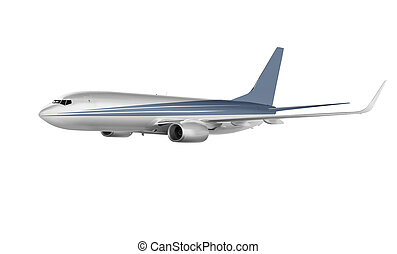 cargo aircraft isolated on white