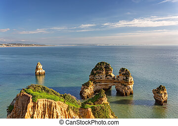 Wonderful views of the sea coast of Lagos Algarve
