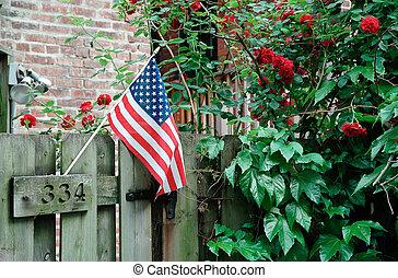 americano, bandeira