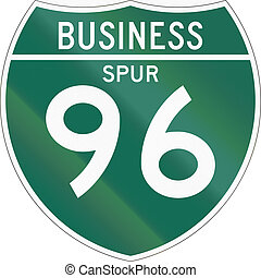 Business Spur 96 - Off-Interstate Business Spur shield.