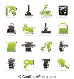hygiene objects icons