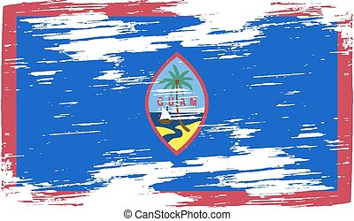 Flag of Guam with old texture. Vector illustration