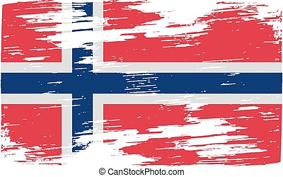 Flag of Norway with old texture Vector illustration
