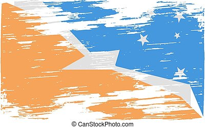 Flag of  with old texture. Vector illustration