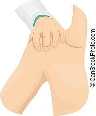 Hand Doctor Shoulder - Illustration of a Doctor Examining...