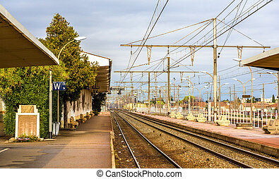 Railway station of Arles - France, Provence-Alpes-Cote...