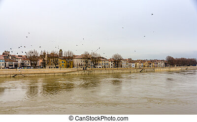 Embankment of Arles - France, Provence-Alpes-Cote dAzur