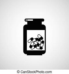 Vial of medicine - vector vial of medicine symbol