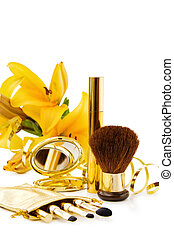 Luxury makeups set with flower
