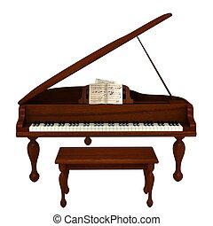 grand piano - image of grand piano.