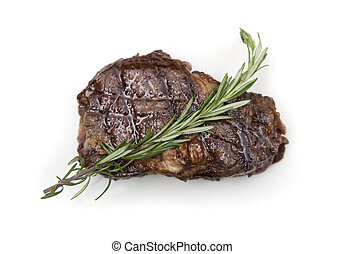 Ribeye steak - Juicy ribeye steak on white background