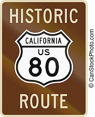 Historic Route 80 - US historic route highway 60