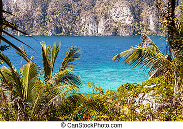 Phi Phi Island - the beautiful andaman sea seen from phi phi...