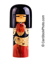 japonés, kokeshi, muñeca,