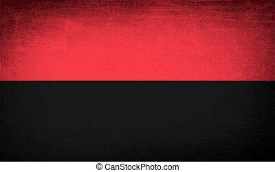 Flag of OUN-UPA with old texture Vector - Flag of ukrainian...