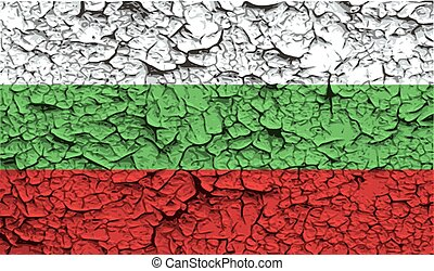Flag of Bulgaria with old texture. Vector