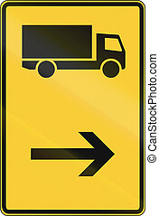 Lorry Direction Sign - German direction sign for lorries.