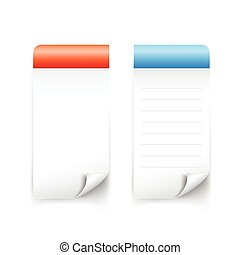 Blank sticky tag paper banner for note
