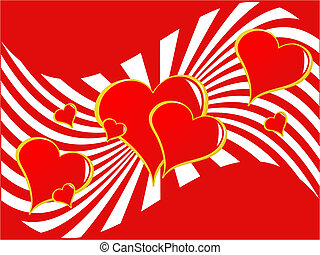 Valentines Hearts Background - A valentines vector...