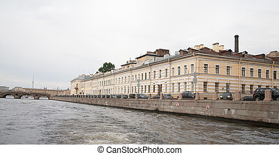 Fontanka river - View of St. Petersburg, Russia. Fontanka...