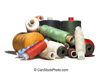 bunch of sewing thread