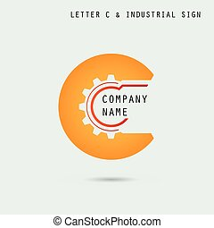 Creative letter C icon abstract logo design vector template...
