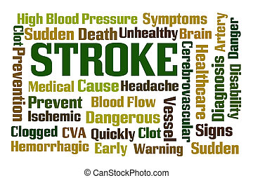 Stroke word cloud on white background