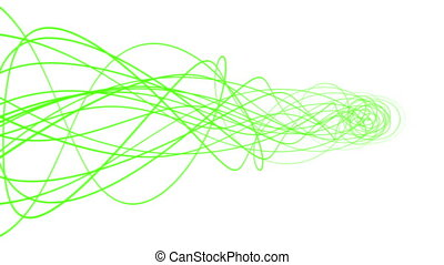 Abstract flowing green lines