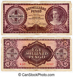 vintage banknote - high resolution vintage hungarian...