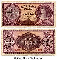 vintage banknote - high resolution vintage hungarian...