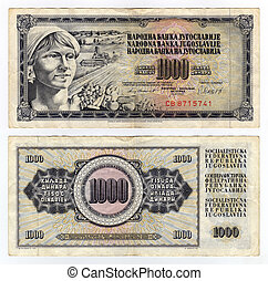 vintage banknote - high resolution vintage yugoslavian...