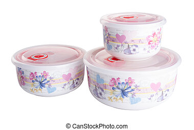 food containers. containers. food containers on the...