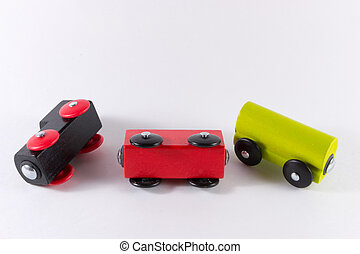 Wooden Toy Train Set - Wooden toy set that has crashed...