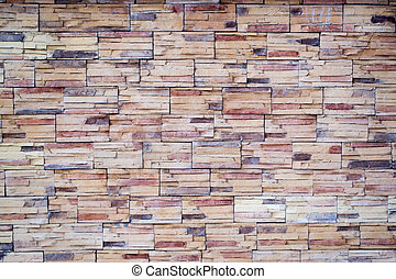 Brick Tiled Wall - Brick tiles wall shows strength and...