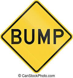 Bump Sign - US road warning sign: Bump