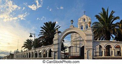 White colonial architecture in Sucre, Bolivia - White...