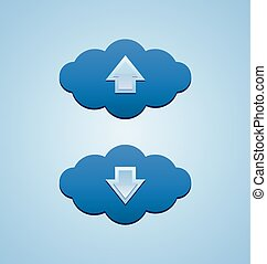 Up and down clouds useful for webdesign purposes