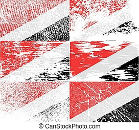 Flag of The Principality Sealand with old texture Vector...