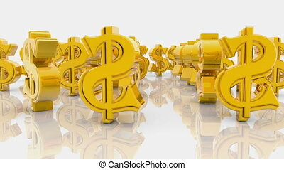 American dollar signs on a white background