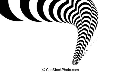 Abstract zebra white and black form animation